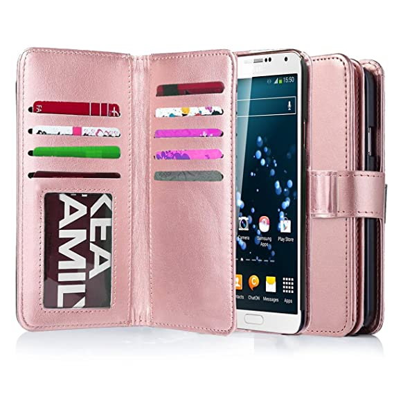 the best attitude 40da8 aba91 Note 3 Case, Galaxy Note 3 Case, Jwest Note 3 Wallet Case,Pu Leather Case  Magnet Wallet 9 Credit Card Holder Flip Cover Case Built-in 9 Card Slots ...