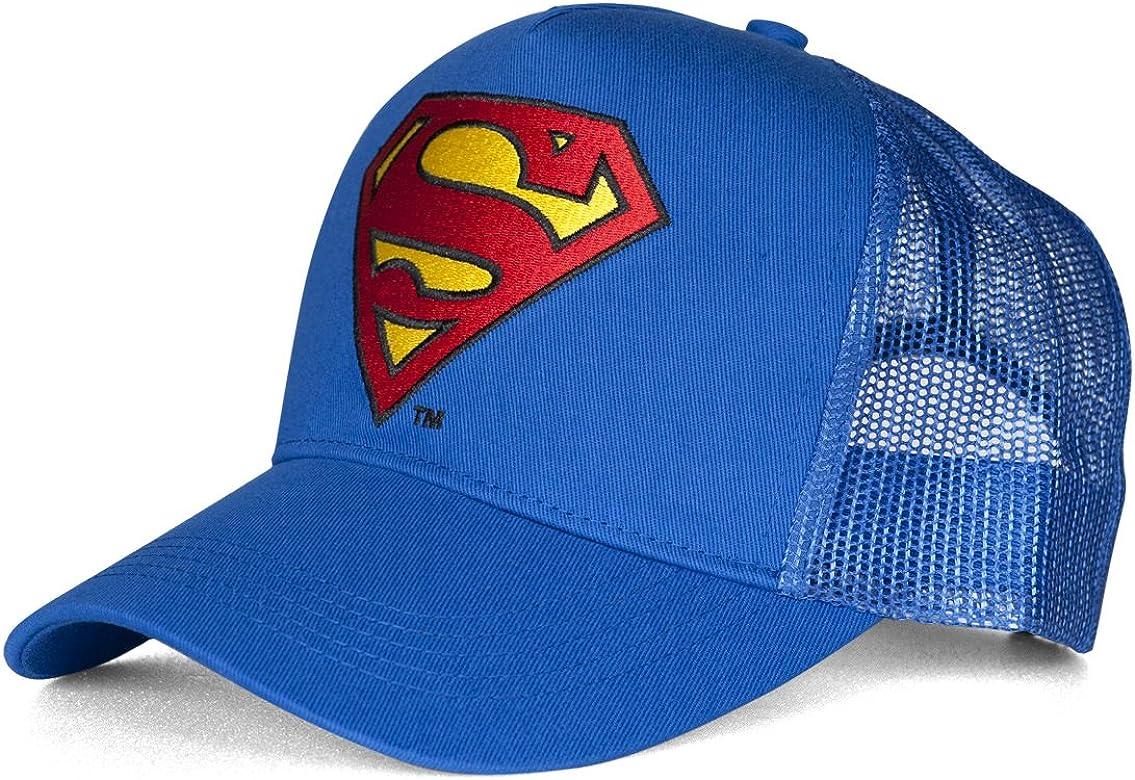 Superman Logo Gorra de béisbol, Azul (Azure Blue), Talla única ...