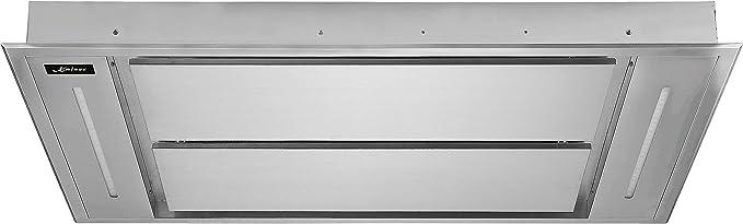 Kaiser EA 1145 Eco Premium Line techo Campana 110 cm novedad/Campana de acero inoxidable/inlusive saugstarken Motor 1250 M³/h/Campana empotrable/inkluisve mando a distancia/Iluminación LED/Turbo Nivel/Canalizado y recirculación techo Campana/Incluye ...