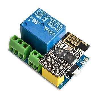 Wovelot Modulo De Rele Wifi Esp8266 Esp 01s 5v Interruptor De Control Remoto Inteligente Para El Hogar Para Arduino Aplicacion De Telefono Modulo De