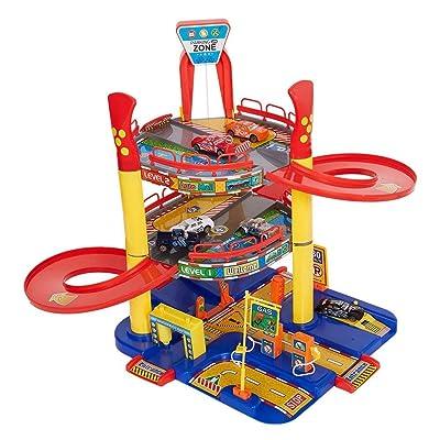 COLOR TREE Parking Garage Playset for Toddler Car Garage for Boys: Toys & Games