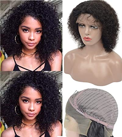 Amazon.com    LIMITED TIME SALE Lace Front Wigs for Women Curly Human Hair f36980fb00