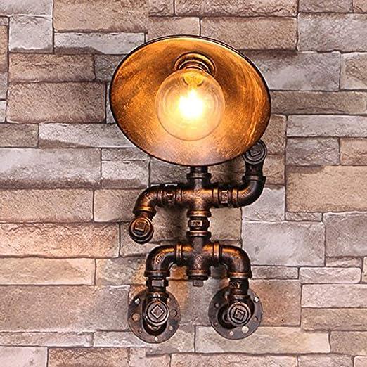 Lámpara De Pared Robot Pipe Lámpara De Pared Industrial Vintage LED Iluminación Industrial Lámpara Retro Para Cocinas Sala Comedor Restaurante Sótano Sótano: Amazon.es: Iluminación
