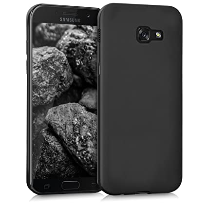 differently ea36d 7abe2 kwmobile TPU Silicone Case for Samsung Galaxy A5 (2017) - Soft Flexible  Shock Absorbent Protective Phone Cover - Black Matte