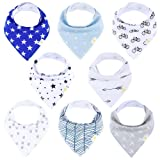 Amazon Price History for:Baby Bandana Bibs for Boys, 8-Pack Drool Bib Set, Soft Hypoallergenic Absorbent Organic Cotton, Newborn Baby Shower Gift Set For Drooling and Teething by Arrmshakii