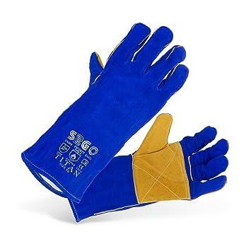 Stamos Germany SWG03-TITAN Guantes de Soldadura Guantes Soldador Soldar Guantes de Trabajo Protección (Tipo A, KEVLAR®, Talla 10/XL) azul: Amazon.es: ...