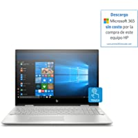 "HP ENVY x360 Convertible, Pantalla de 15"" FHD, Procesador Intel core 8ª generación, 12GB RAM, 1TB HDD, Sistema operativo Windows 10, Color Silver (15-cn0001la)"