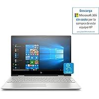 """HP ENVY x360 Convertible, Pantalla de 15"""" FHD, Procesador Intel core 8ª generación, 12GB RAM, 1TB HDD, Sistema operativo Windows 10, Color Silver (15-cn0001la)"""