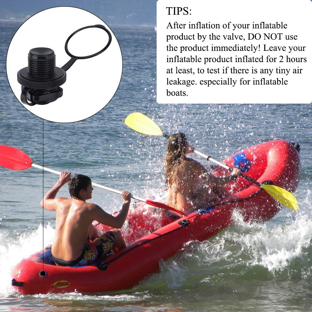 2PCS Air Valve for Inflatable Boat Screw Air Valve Replacement Spiral Air Plugs for Inflatable Raft Kayak Canoe Airbed PVC Boat