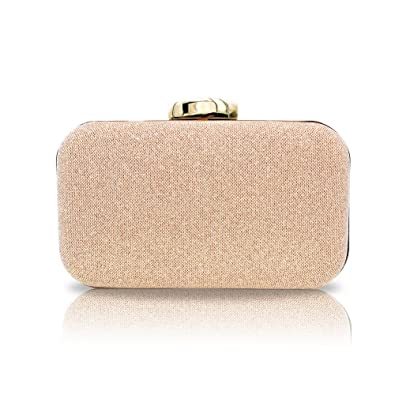 2b28307781 Artemis'Iris Elegant Rose Gold Clutch Purse Crossbody Bags for ...