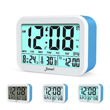 Reloj digital con despertador de la marca Jiemei. Relojes para niños y adultos, funciona