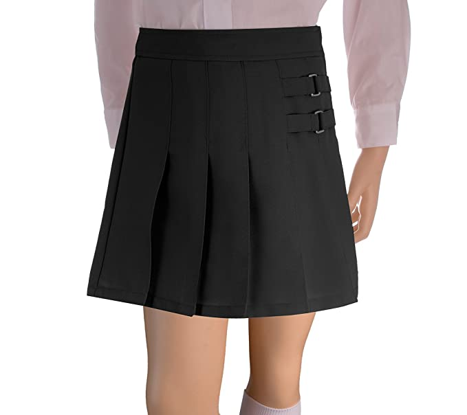 French Toast School Uniforms Girls Pleated Scooter w/Side Buckle Accent  X9103 - Black, 4