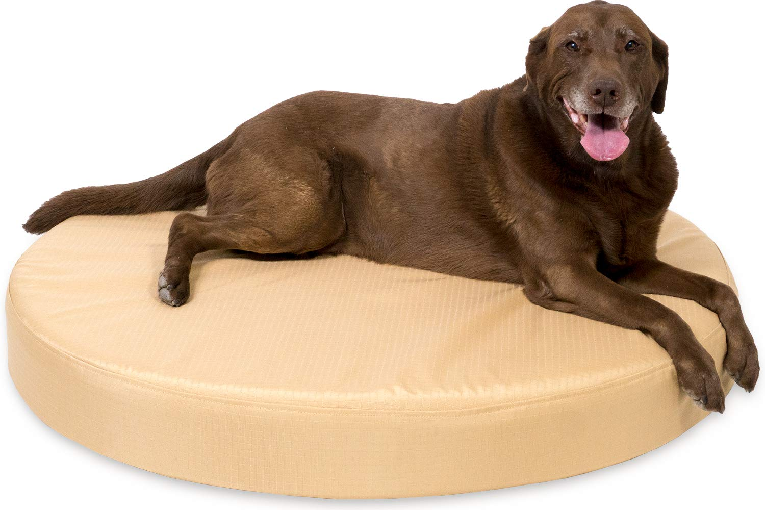 K9 Ballistics Round Orthopedic Dog Bed Nearly Indestructible Chew Resistant, Small Medium Large Tough Nesting Pillow for Chewing Puppy, Joint Support Foam
