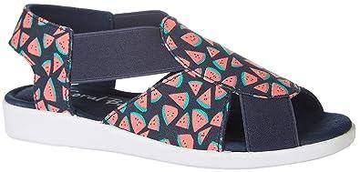fa35ad67b Coral Bay Womens Maggie Watermelon Casual Sandals 6 Blue Multi