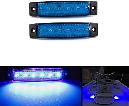 2pcs waterproof Marine Led Light Courtesy /& Utility Strip for Boats 12 V blue