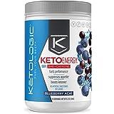 KetoLogic BHB Exogenous Ketones Drink Powder + Electrolytes + Caffeine - Keto Pre-Workout - Patented goBHB® Max Results - Amp