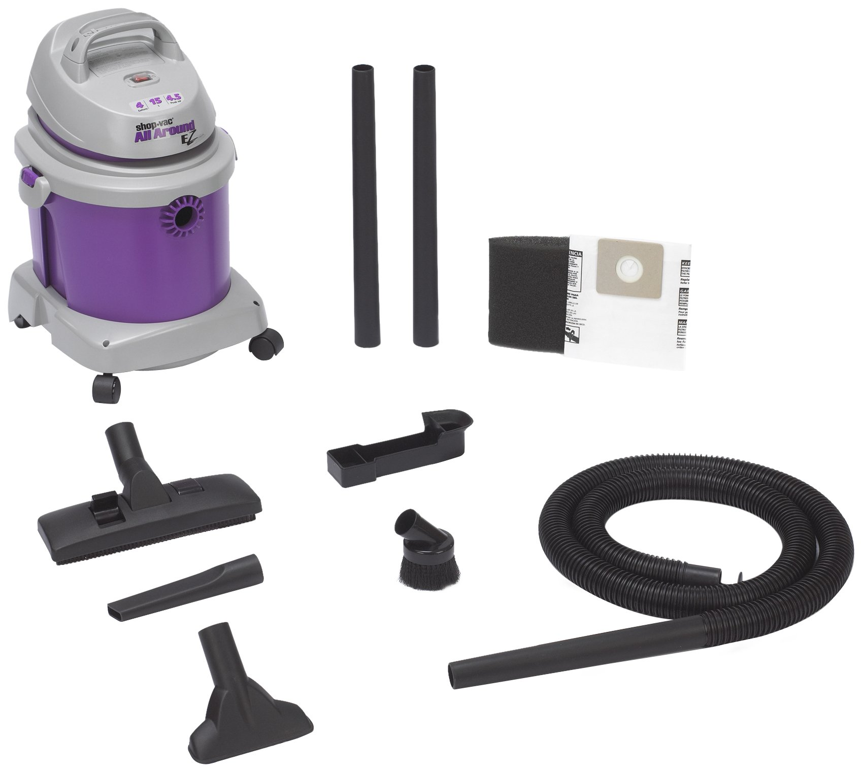 Wet/Dry Vacuum, 4.5 HP, 3 gal., 9A, 60Hz by Shop Vac