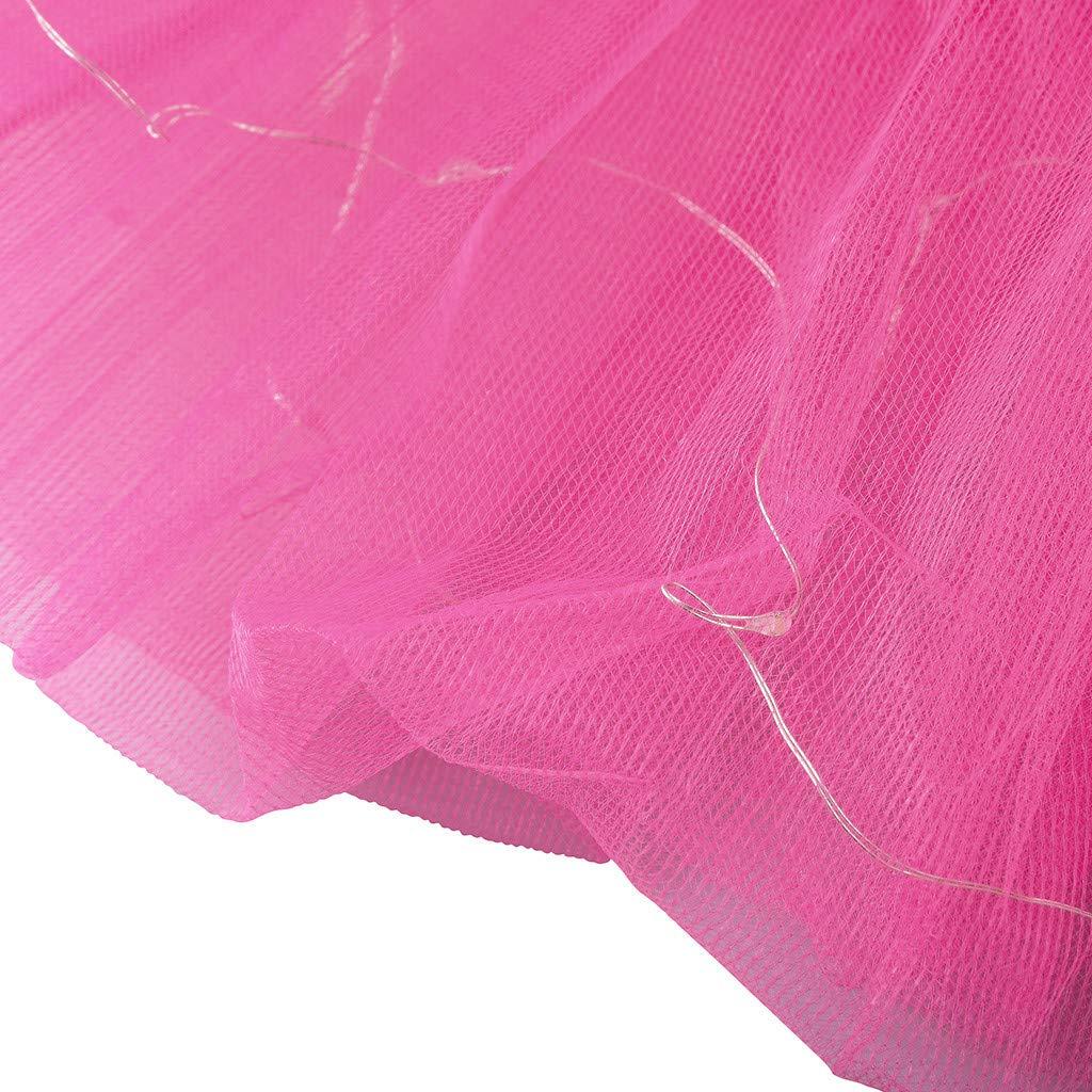Houshelp Women LED Mini Tutu Skirt Light Up 3 Layered Party Dance Tulle Ballet Dance Skirt Princess Dress Costume Hot Pink