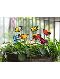 Ginsco 25pcs Butterfly Stakes ...