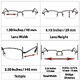 Reading Glasses Best 3 Pack Gunmetal for Men and