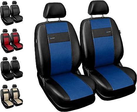 Universal Sitzbezüge Schwarz Blau für Opel Astra H Schonbezüge Set Bezug Auto