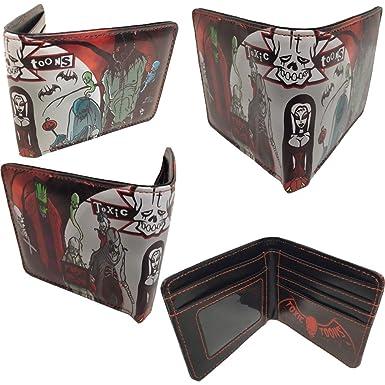 kreepsville toxic toons halloween wallet black