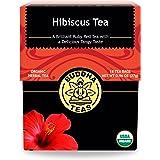 Buddha Teas Organic Hibiscus Flower Tea | 18 Bleach-Free Tea Bags | Supports Circulatory System | Calms Nervous System | Anti