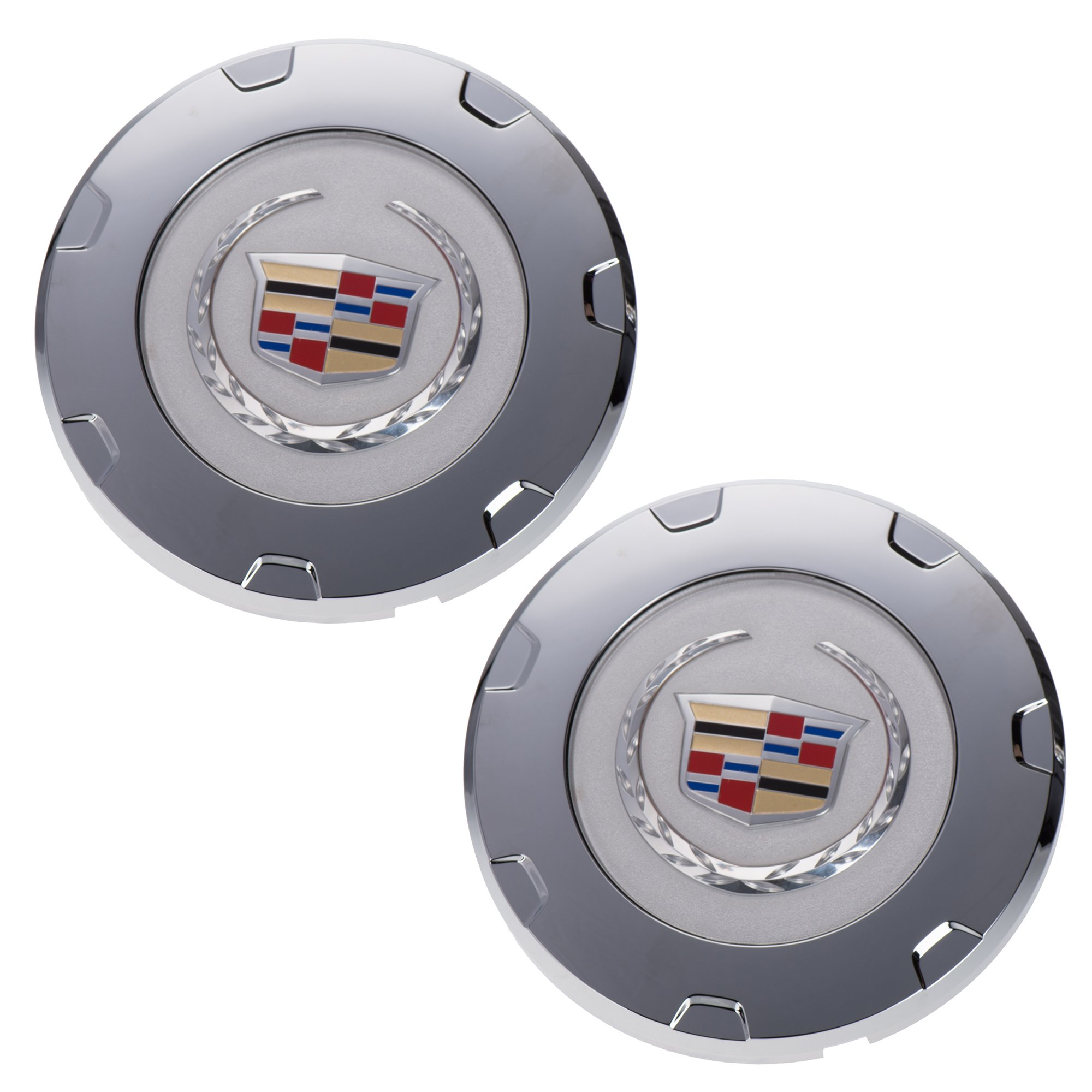 OEM NEW Wheel Center Cap Set of 2 Chrome w/Wreath & Crest 09-14 Escalade 9598677