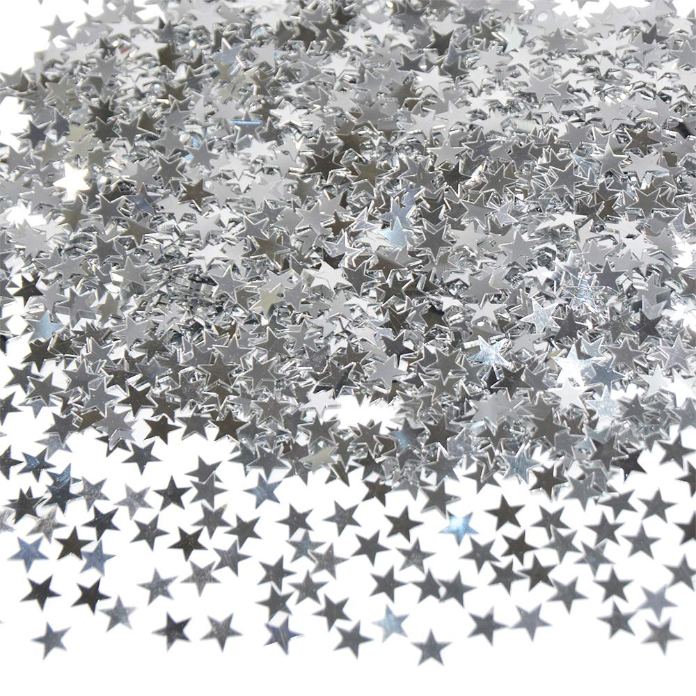About 4100 Pcs Star Confetti Black Gold Shiny Table Confetti for Wedding Party Holiday Seasons Decorations DIY Crafts 50g