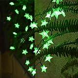 EYUVAA LABEL 30 LED 10M Star Shape LED String Lights Multi Color Fairy Lamp for Christmas Diwali Birthday Wedding Decoration (Green)