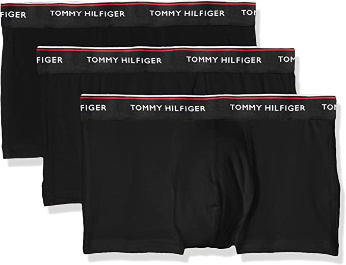 Tommy Hilfiger 3-Pack Premium Stretch Men/'s Boxer Trunks Black