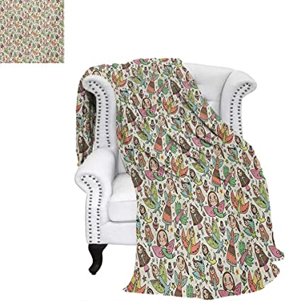 Awe Inspiring Amazon Com Warmfamily Angel Lightweight Blanket Lovely Machost Co Dining Chair Design Ideas Machostcouk