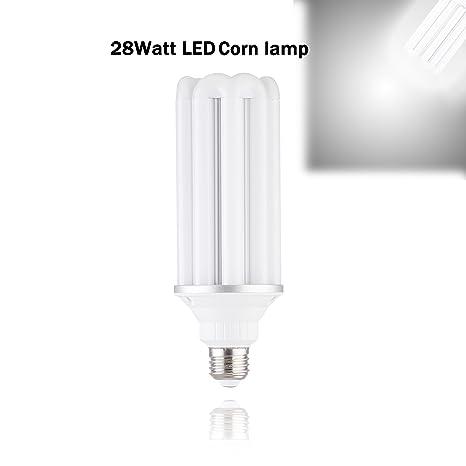 28W LED Corn Light Bulb for Large Area(E26 conversion E40 lamp head ...