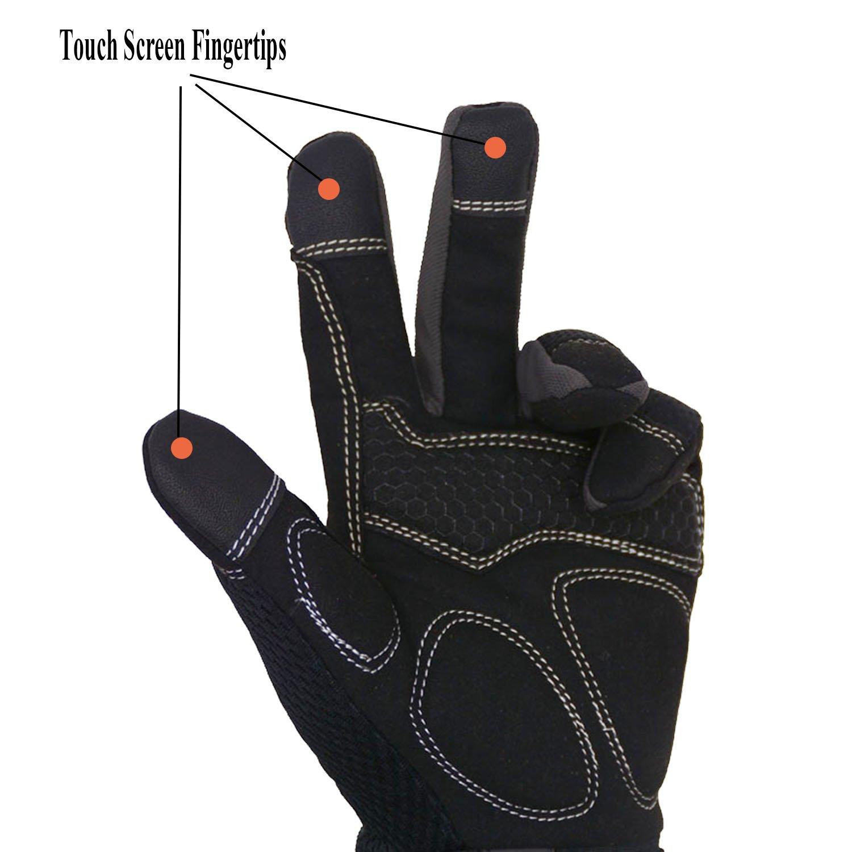 Handlandy Flex Grip Work Gloves Mens, Anti Vibration Impact Gloves- SBR Padded Palm, Improved Dexterity, Stretchable, Extra Large by HANDLANDY (Image #5)