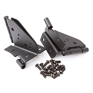 R&age Jeep 7603 Black Windshield Hinges  sc 1 st  Amazon.com : rampage door hinges - pezcame.com