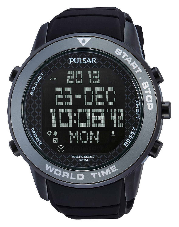Pulsar Herren-Armbanduhr XL Sport Digital Quarz Kautschuk PQ2035X1
