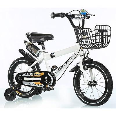 Cyclisme masculin et féminin, vélo pour enfants, poussette bébé ( Couleur : Blanc , taille : 121cm )