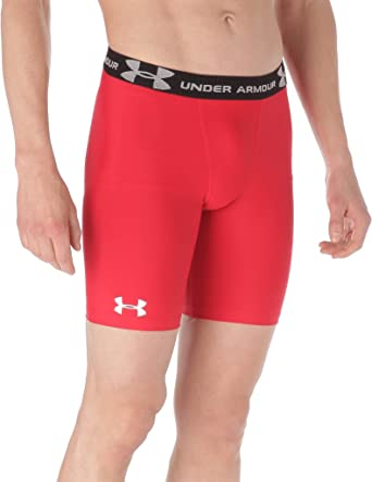 Under Armour Mens Heat Gear Long Compression Short 1257472 White Medium