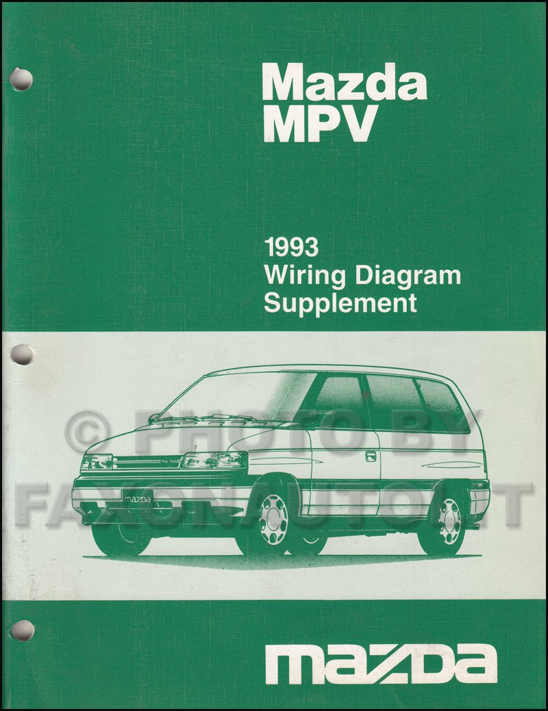 1993 mazda mpv wiring diagram manual original for vans without rh amazon com