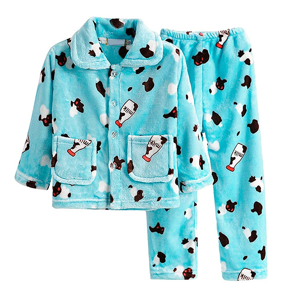 c08719bf70b9 Amazon.com  Smibra Kids Milk Bottles Pattern Comfy 2-Pieces Pajamas Set for  Winter  Clothing