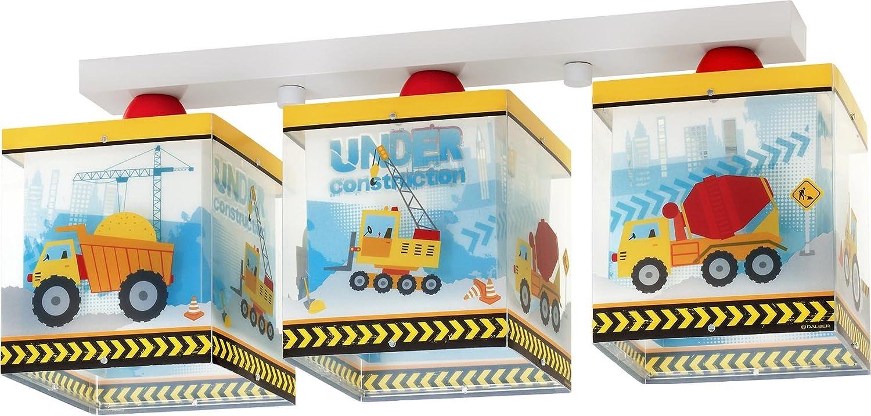 Kinderzimmer-Lampe Baustelle Decken-Lampe 63613 mit LED warmweiß ...