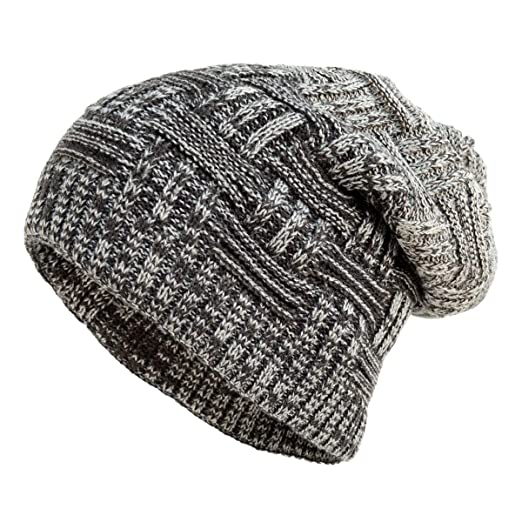 948ecc85cf3 BG Knit Charcoal Slouchy Oversized Baggy Winter Causal Beanie Skull ...