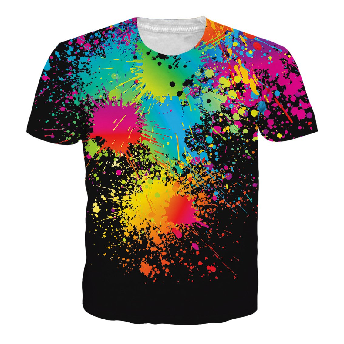 NEWISTAR Unisex 3D Stampato Estate Casuale Manica Corta T Shirt Tees