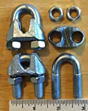 "Cable Clamps U-Bolts 1 pc 3/8"" Clamps Steel"