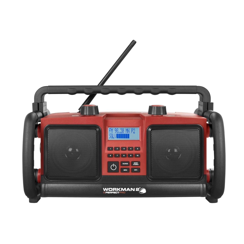 est/éreo PerfectPro WORKMAN 2 radio para obras con FM-RDS