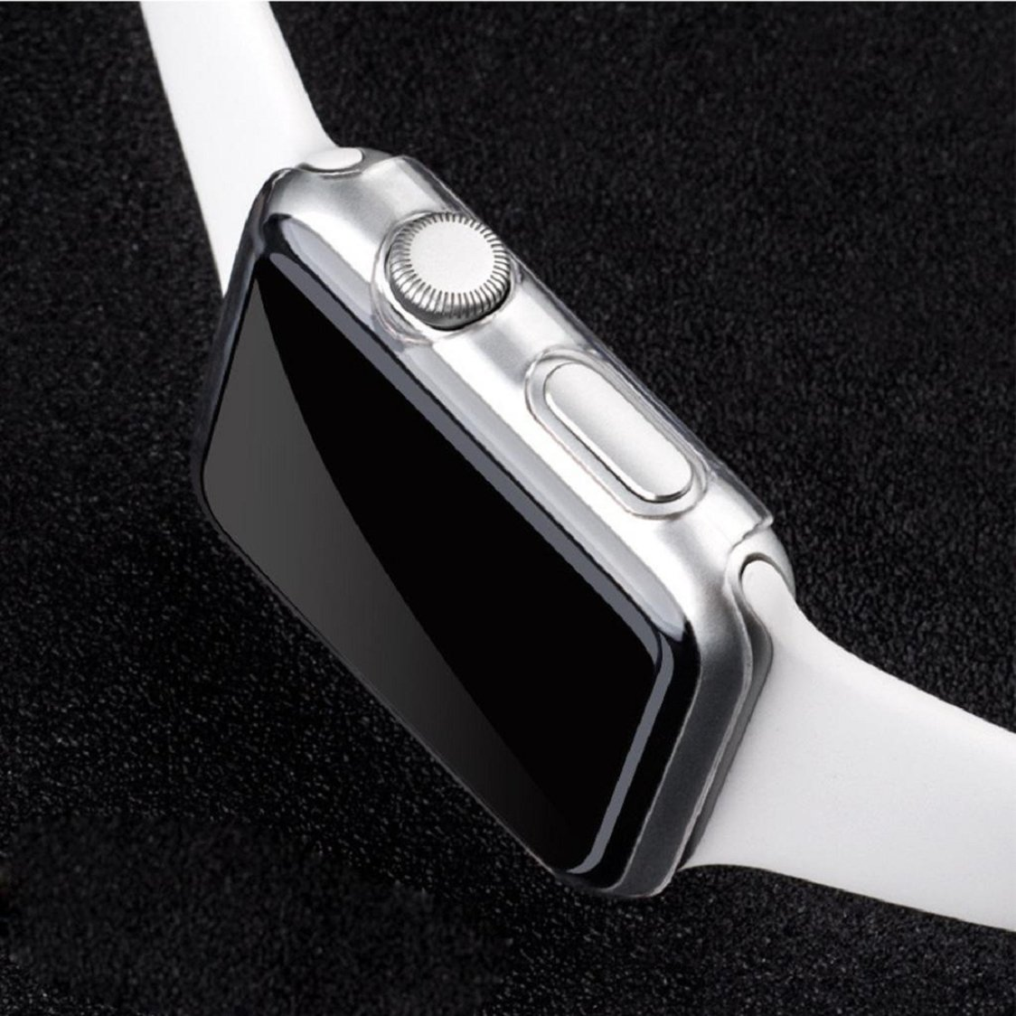 Apple Watch Case,Sunfei Ultra-Slim Cystal Clear PC Hard Protective Case Cover for Apple Watch (42mm) by Sunfei (Image #7)