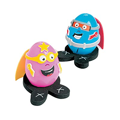 Super Hero Egg Decorating Craft Kit -12 - Crafts for Kids and Fun Home Activities: Toys & Games