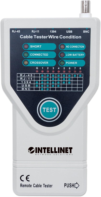 Intellinet 351898 comprobador de Cables de Red Probador de Cable de Red