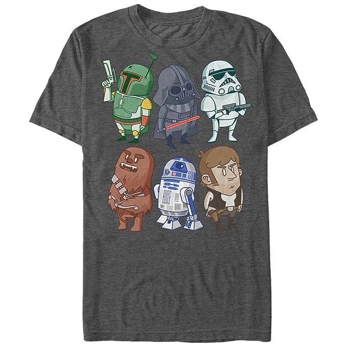 Star Wars Doodles Graphic - Playera para Hombre  Amazon.com.mx  Ropa ... c3e4e0d60ae45
