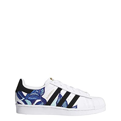 adidas Superstar W Womens Trainers White Black Blue - 7 UK 4f3899863